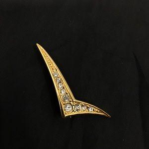 Jewelry - 1940s Art Deco Checkmark Brooch